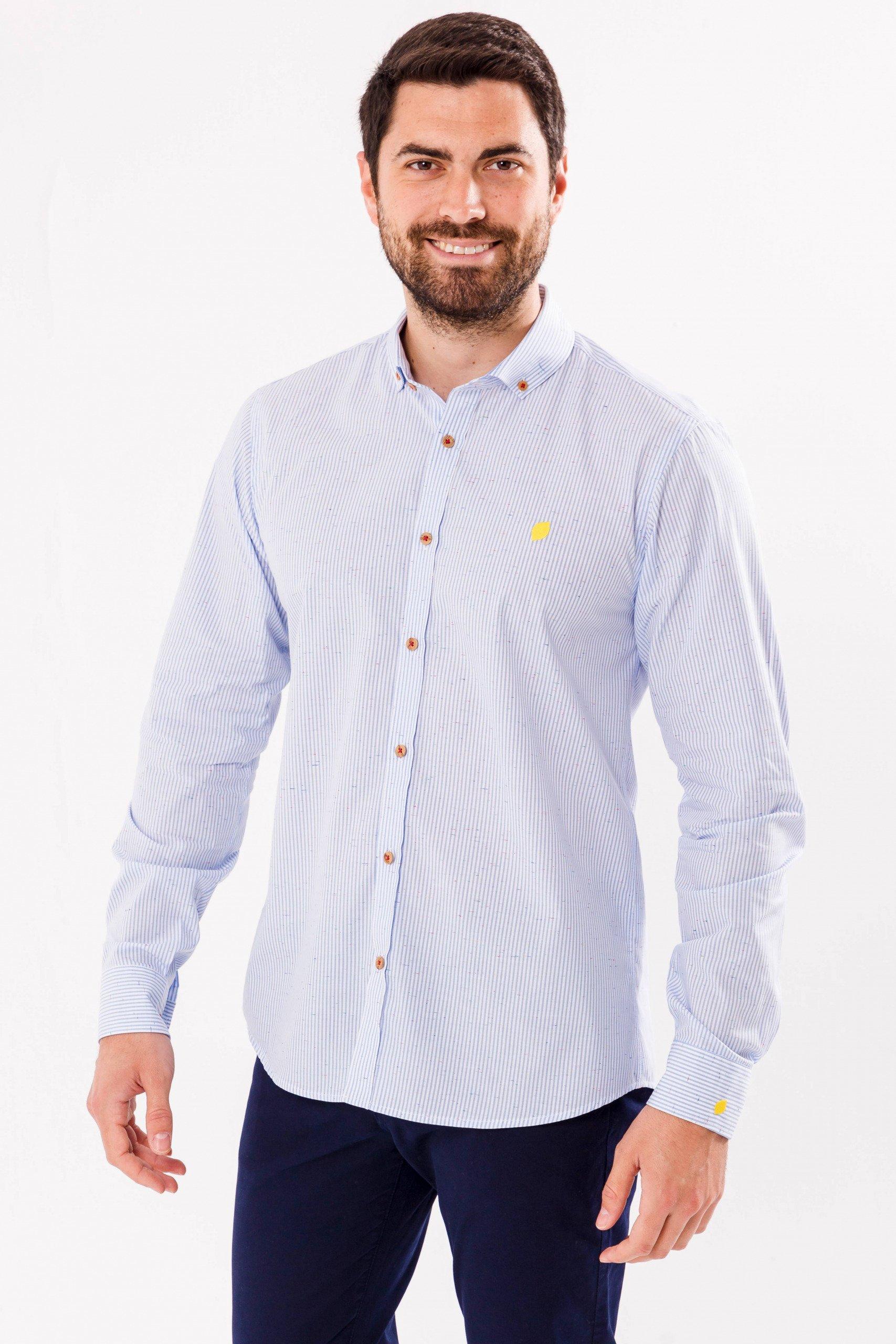 camisa-de-hombre-sir-lemon-rayas-azules