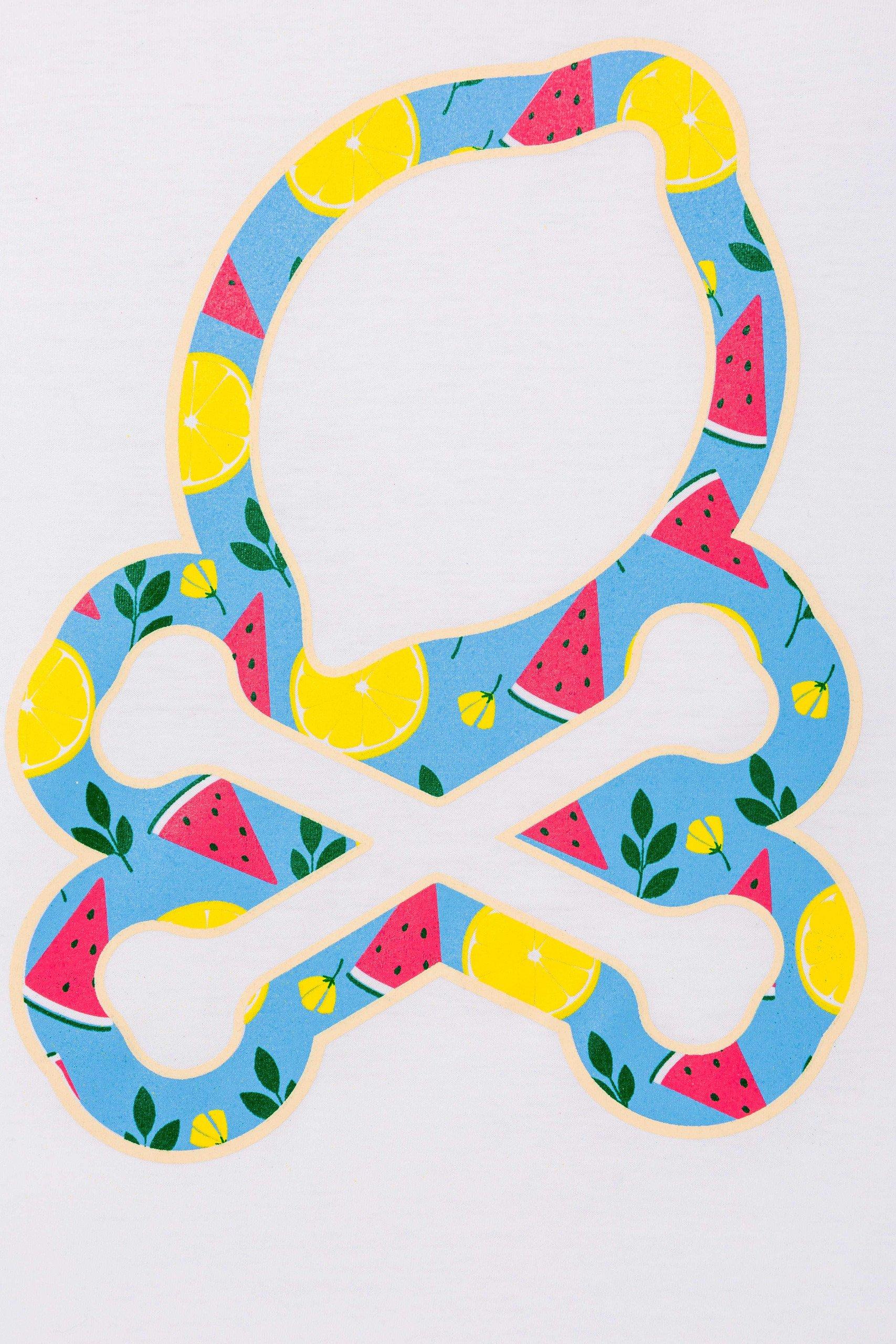 camiseta-sir-lemon-unisex-calavera-colores-frutas