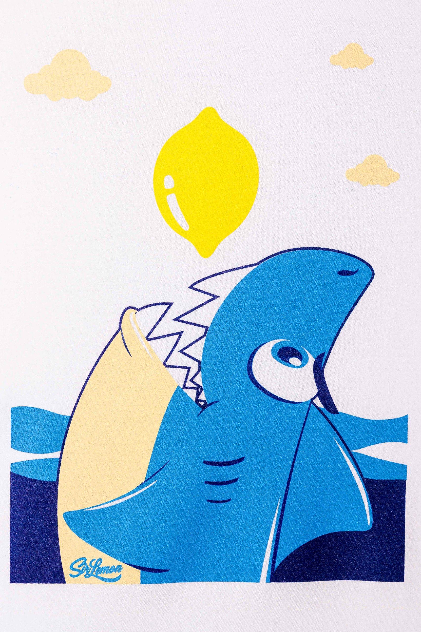 camiseta-sir-lemon-unisex-tiburón