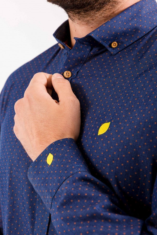 Camisa-sir-lemon-denim-algodón-estrellas