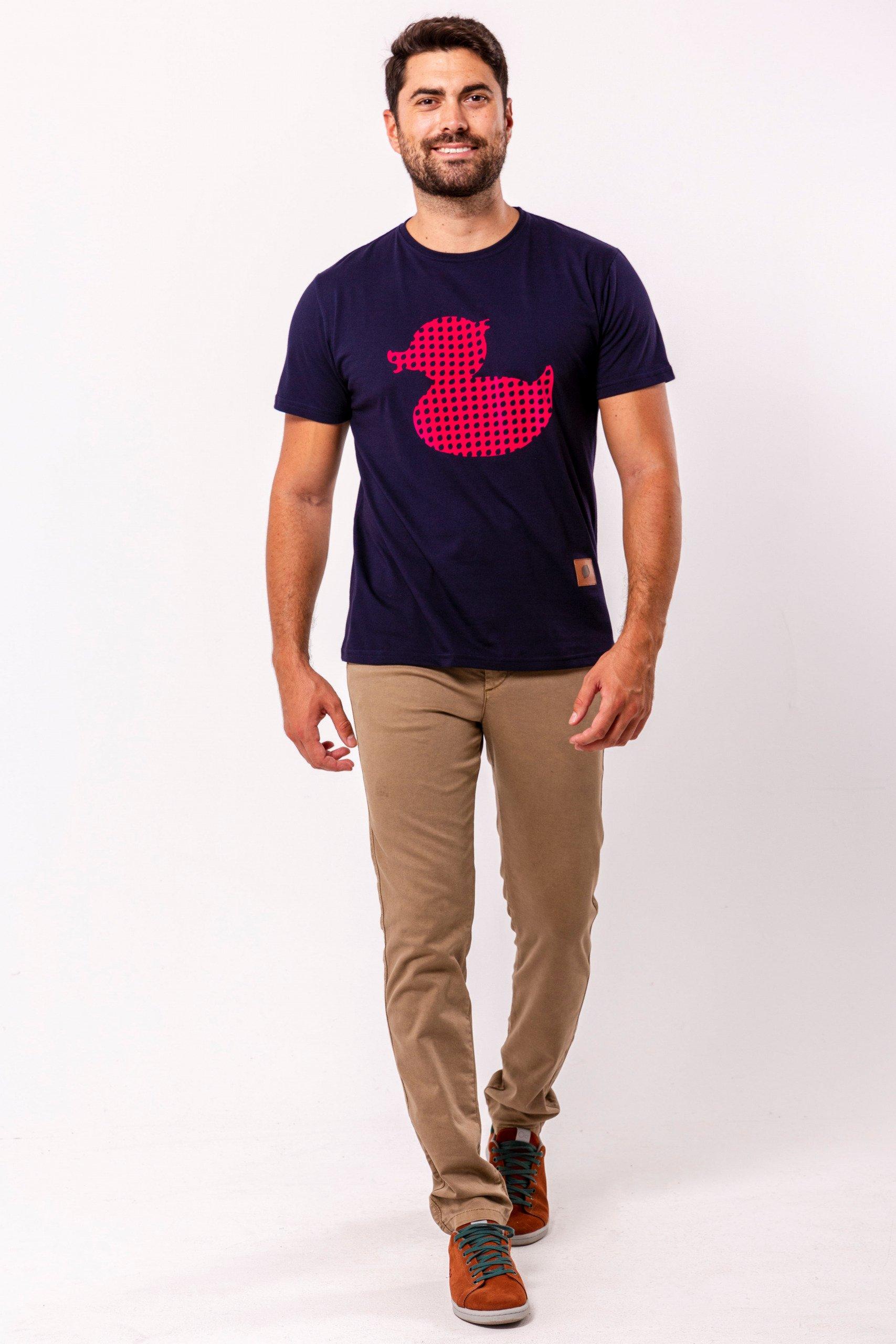 camiseta-sirlemon-duck-pink-fabricada-en-españa