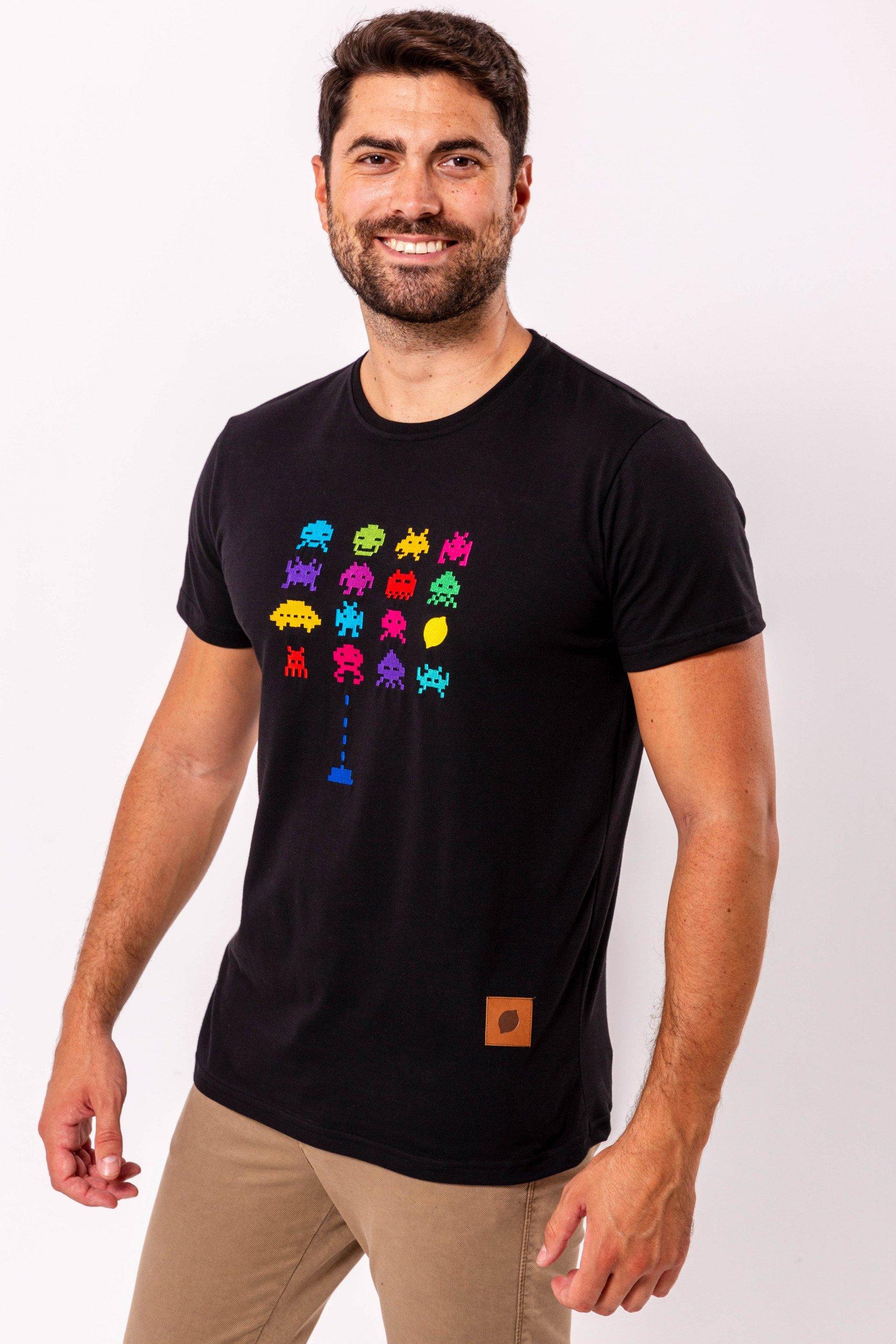 camiseta-sir-lemon-negra-bordado-marcianitos-limon-fabricada-en-españa
